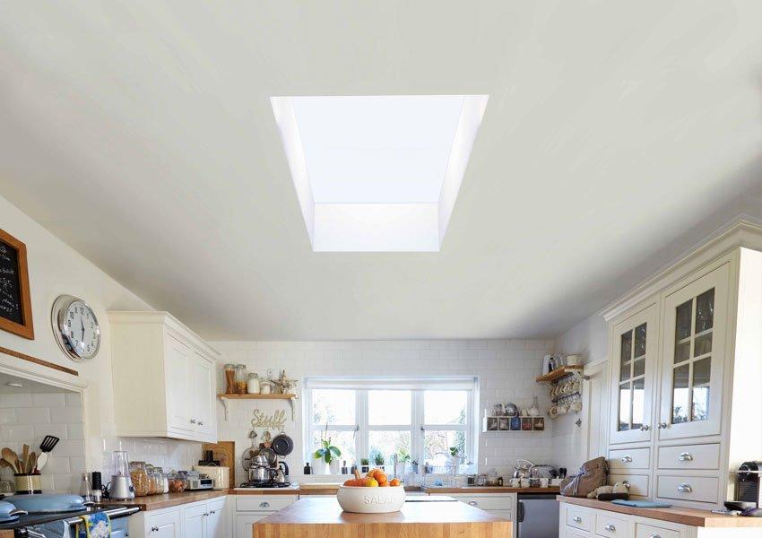 Flat Skylight in Kitchen Extension