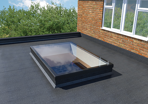 Flat Skylight in Kitchen Extension
